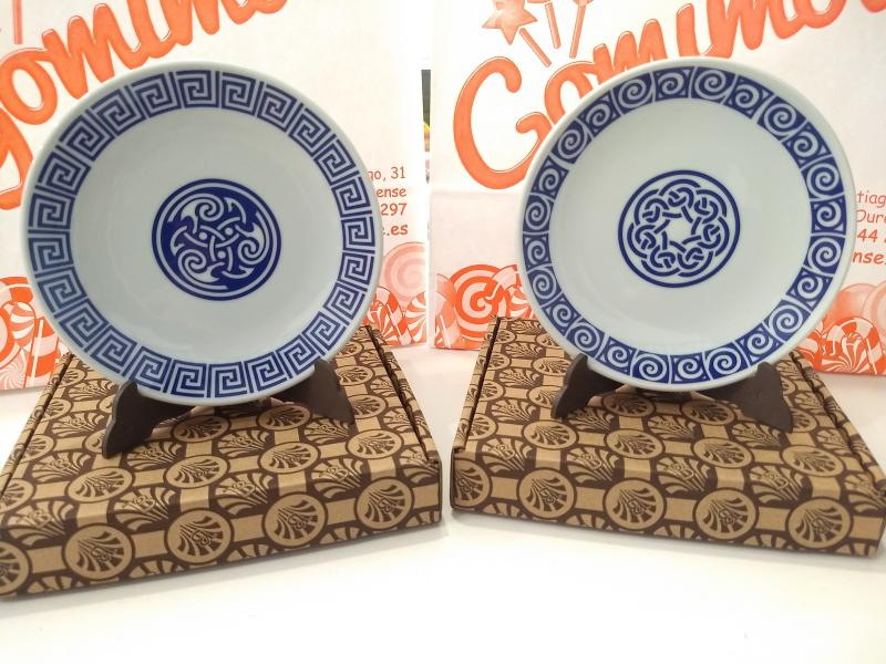 Platos de porcelana con motivos celtas