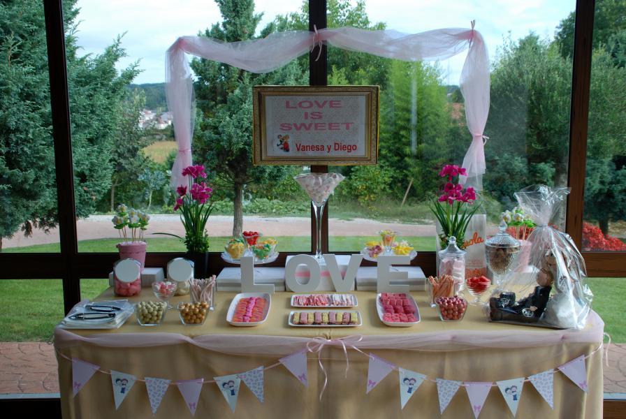 Mesa dulce boda pastel