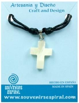 Colgante cruz nacar