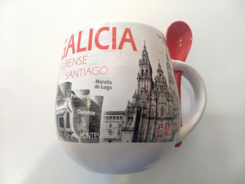 Taza con cuchara Galicia