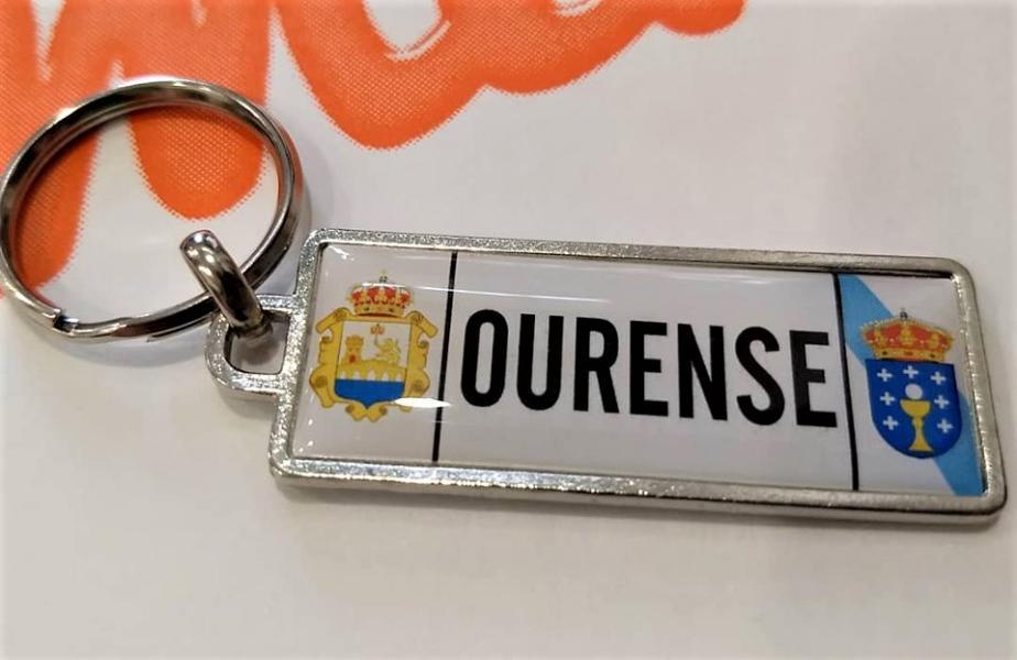 Llaveros recuerdo de Ourense