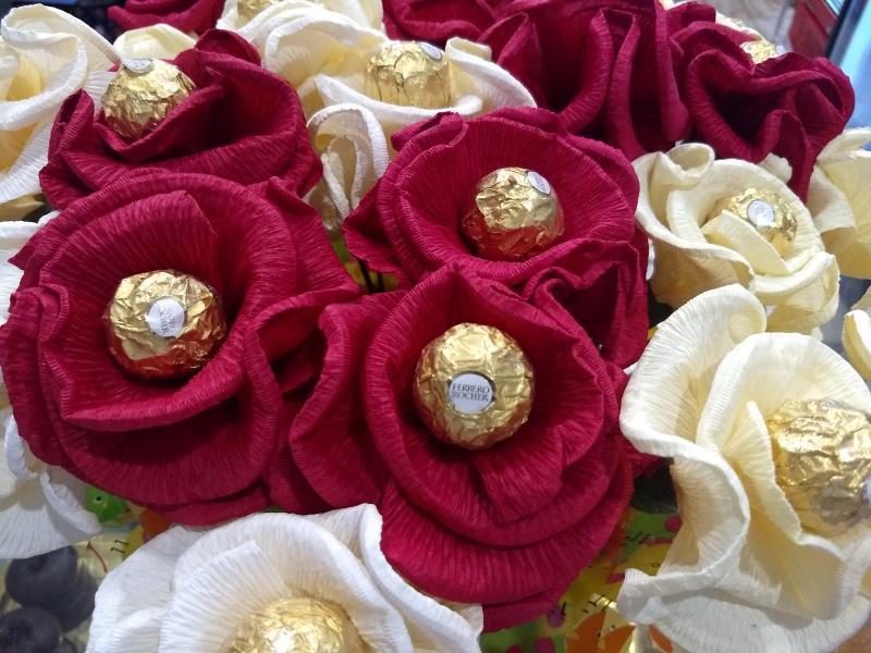 flores de bombón ferrero