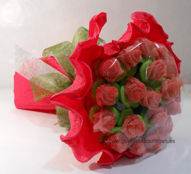 Ramo plano de flores de gominola
