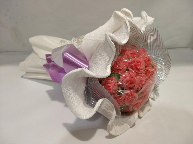 Ramo redonde de flores de gominola