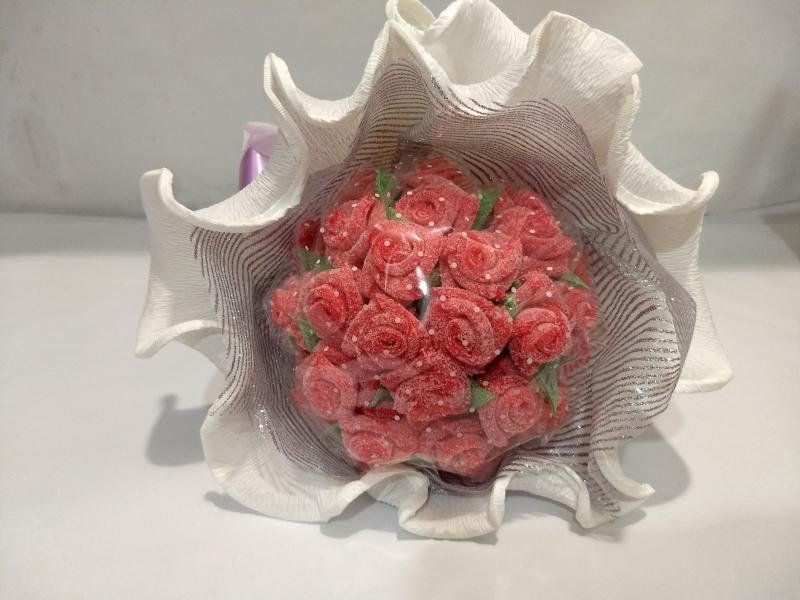 Ramo redondo flores de gominola