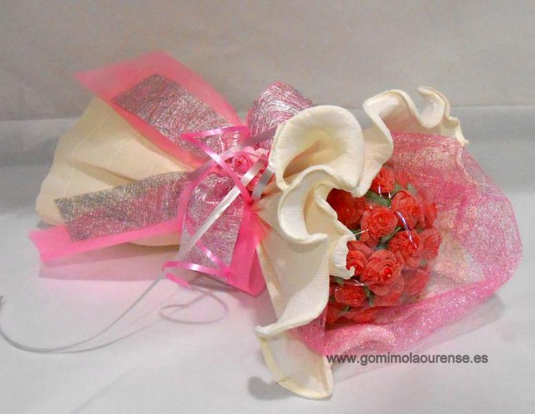 Ramo de flores de gominola redondo